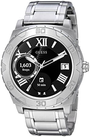 GUESS Ace Mens Touch AMOLED Plata Reloj Inteligente: Amazon.es: Electrónica