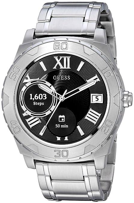 Guess Ace Mens Touch AMOLED Plata Reloj Inteligente - Relojes Inteligentes (AMOLED, Pantalla táctil
