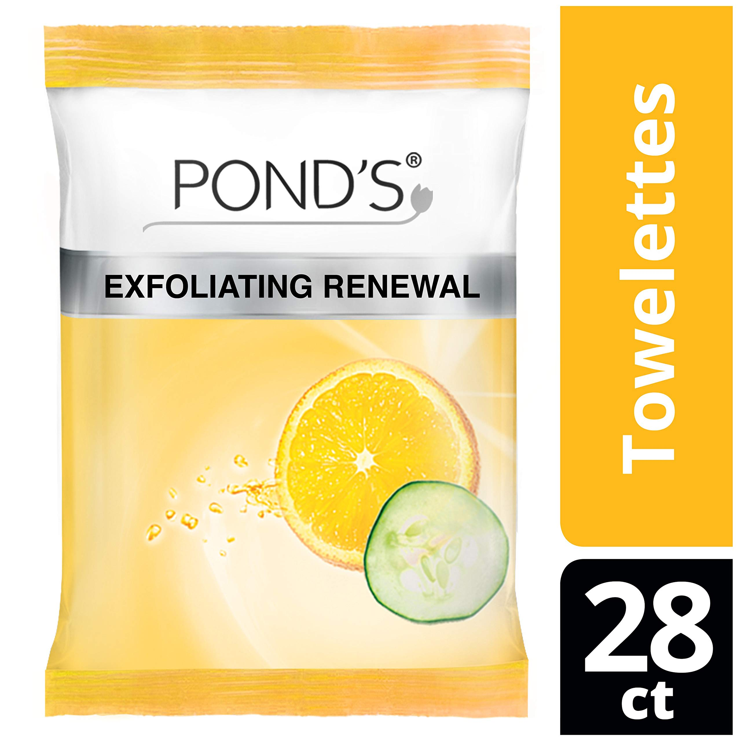 Ponds Moisture Clean Towelettes, Exfoliating Renewal, ...