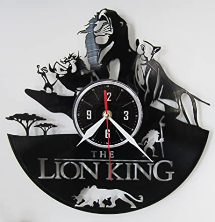 the lion king vinyl record wall clock christmas gift ideas unique home decor