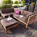 outliv loungem bel holz argon sofagruppe 100 fsc akazie polyester loungegruppe. Black Bedroom Furniture Sets. Home Design Ideas