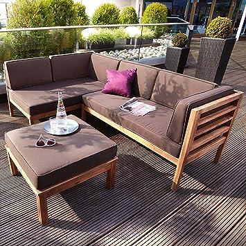 Amazonde Outliv Loungemöbel Holz Odense Loungegruppe 3 Teilig