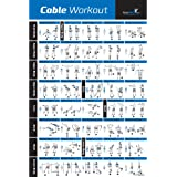 Laminated Cable Exercise Poster - Hang in Home or Gym :: Illustrated Workout Chart with 40 Cable Machine Exercises :: for All Fitness Levels, Men & Women
