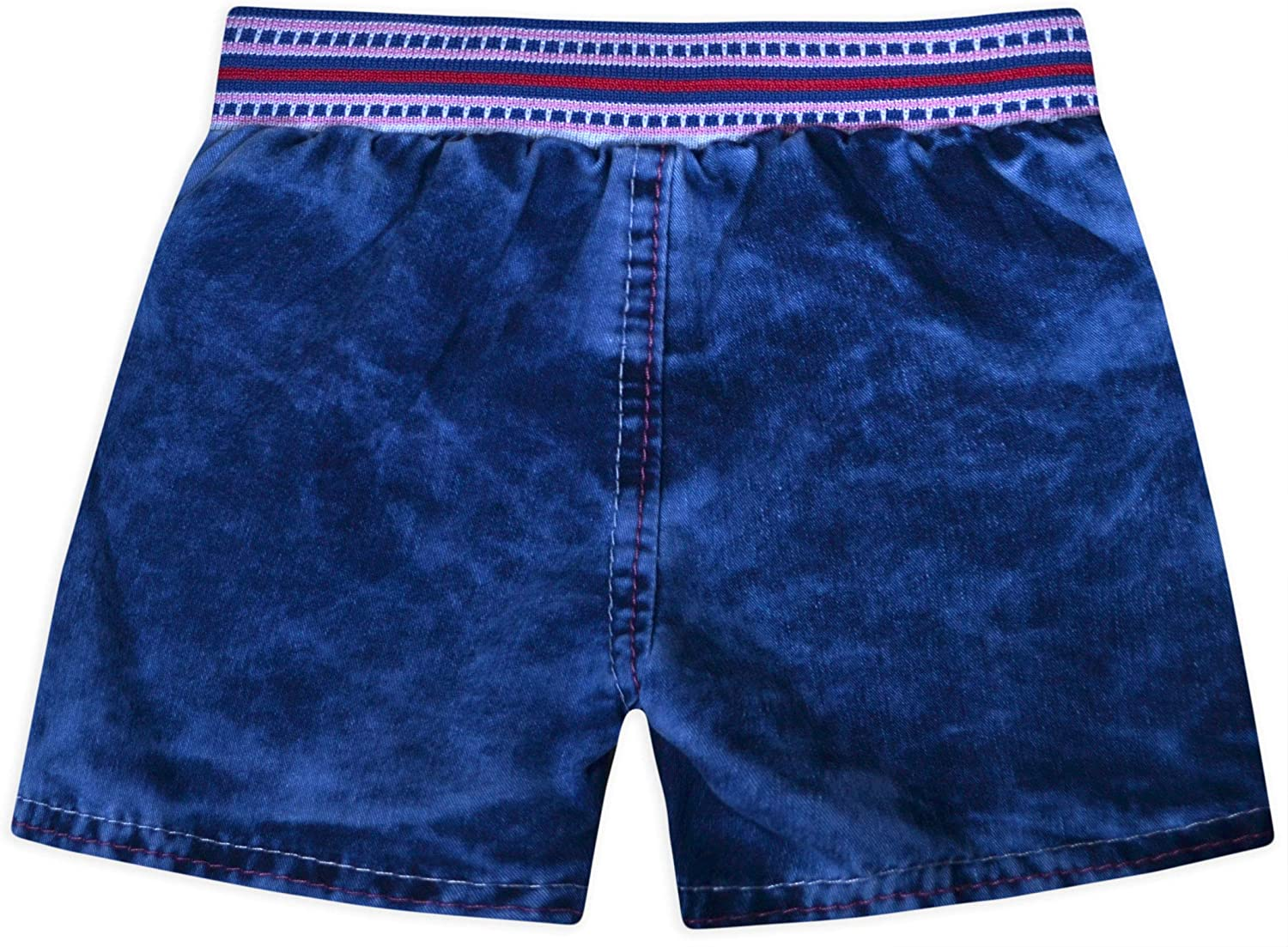 Machine Washable Summer jolly rascals Girls Shorts in Blue 100/% Cotton Embroidered Casual 12-18 Months