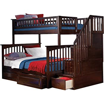 Amazon Com Columbia Staircase Bunk Bed With 2 Raised