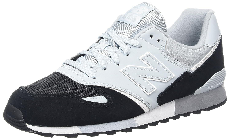 New Balance Unisex-Erwachsene U446 Sneaker,  44.5 EU|Schwarz (Black/Blue/U446kbw)