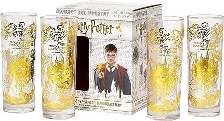 Amazon.com: Harry Potter Marauders Map Juego de 4 vasos ...