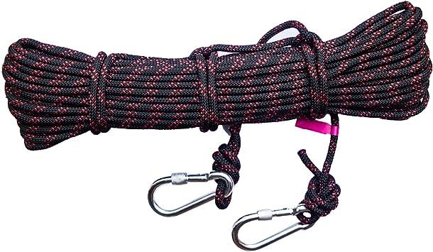 BDSMAGE Escalada Al Aire Libre Cuerda para Escalada de 8 mm de Diámetro Cuerda de Paracaídas de Nylon Escape de Supervivencia Paracord Longitud 10 m ...