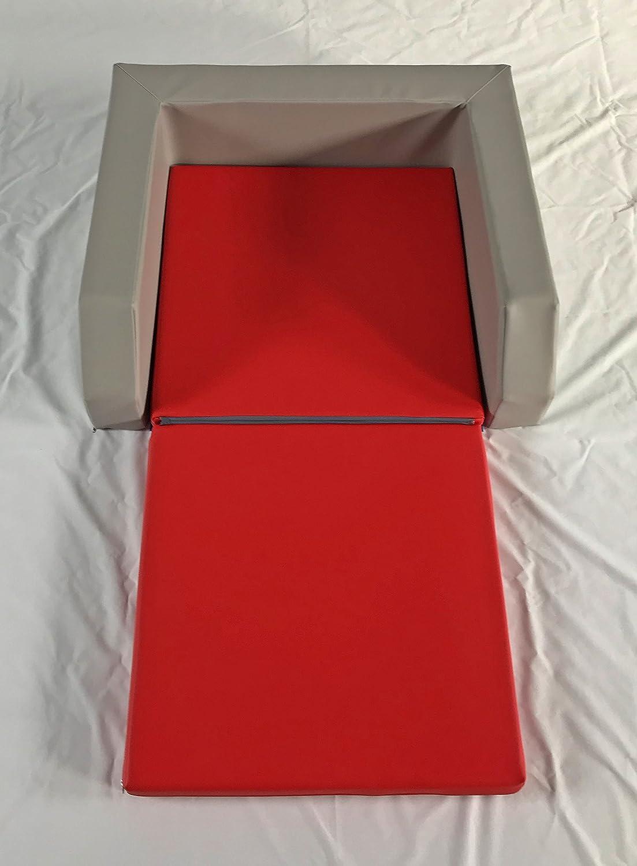Krippenbett mit Einstieg grau/rot fitalia