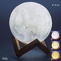Gadgy ® Lámpara Luna 3D (15 CM) l