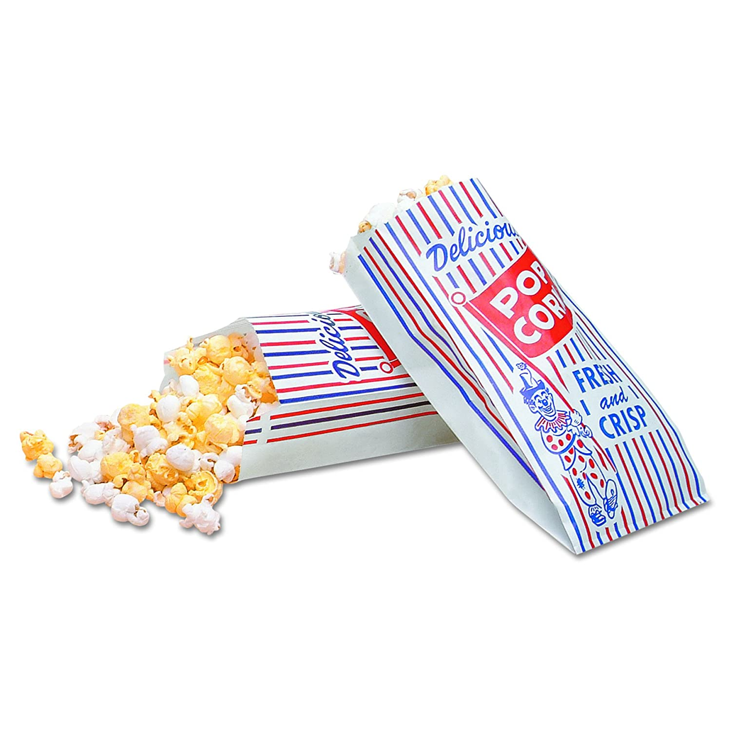 Bagcraft 300471 Pinch-Bottom Paper Popcorn Bag 8