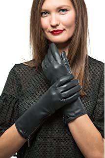 online store exquisite style new york Luxury Leather Gloves For Women, Touchscreen Cold Weather ...