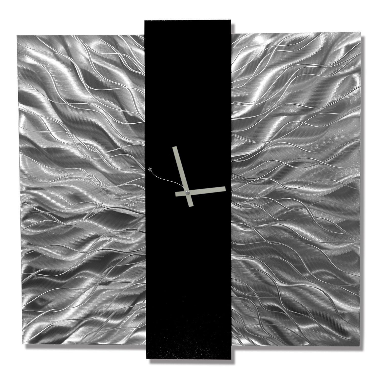 Elegant Mechanism Abstract Metal Wall Art Home Decor Clock / Silver And Black  Wall Clock: Amazon.co.uk: Kitchen U0026 Home