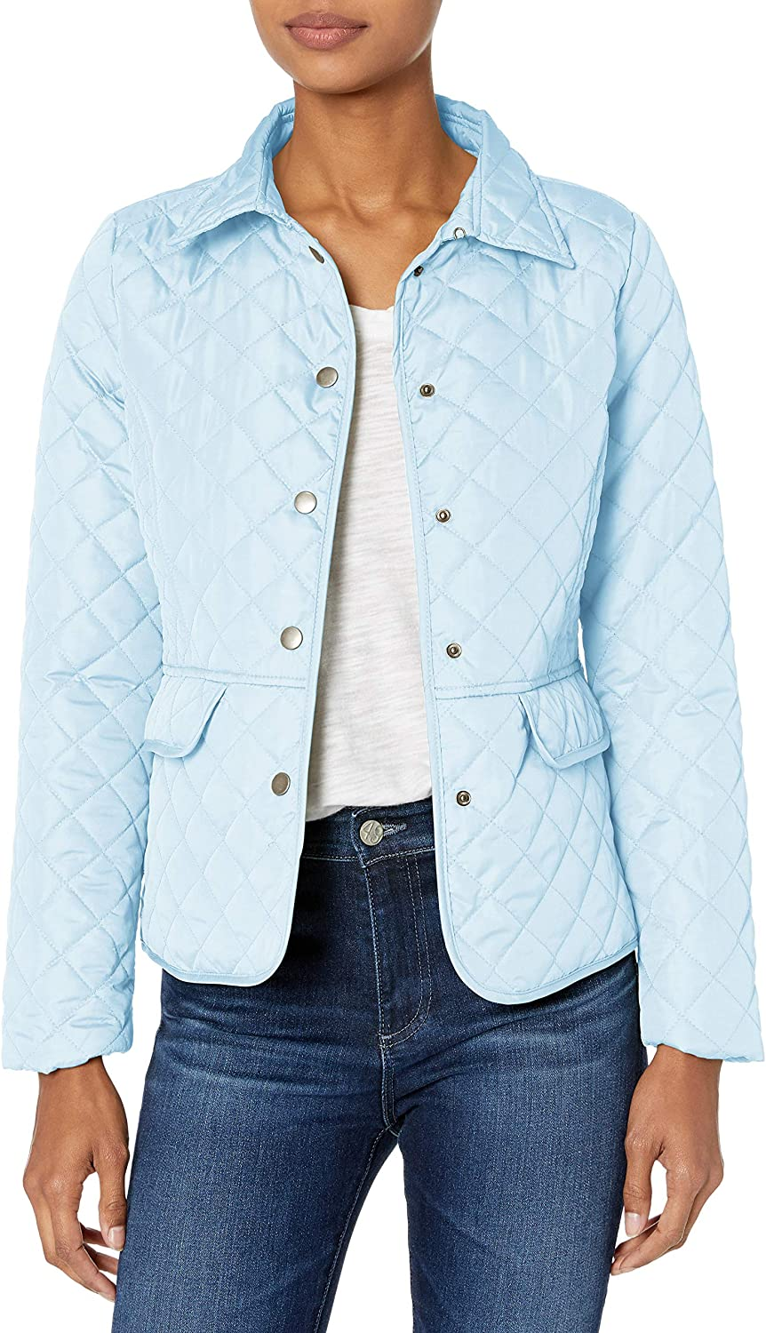 Pink Platinum Womens Diamond Quilted Everyday Jacket