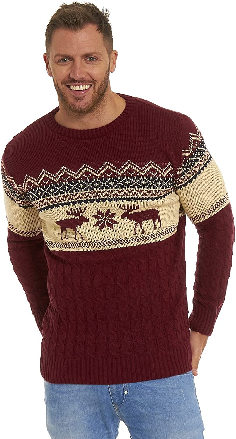 4XL LEKEEZ/® Christmas Jumpers Unisex Mens Womens Ladies Xmas Novelty Knitted Sweater 2019 XS