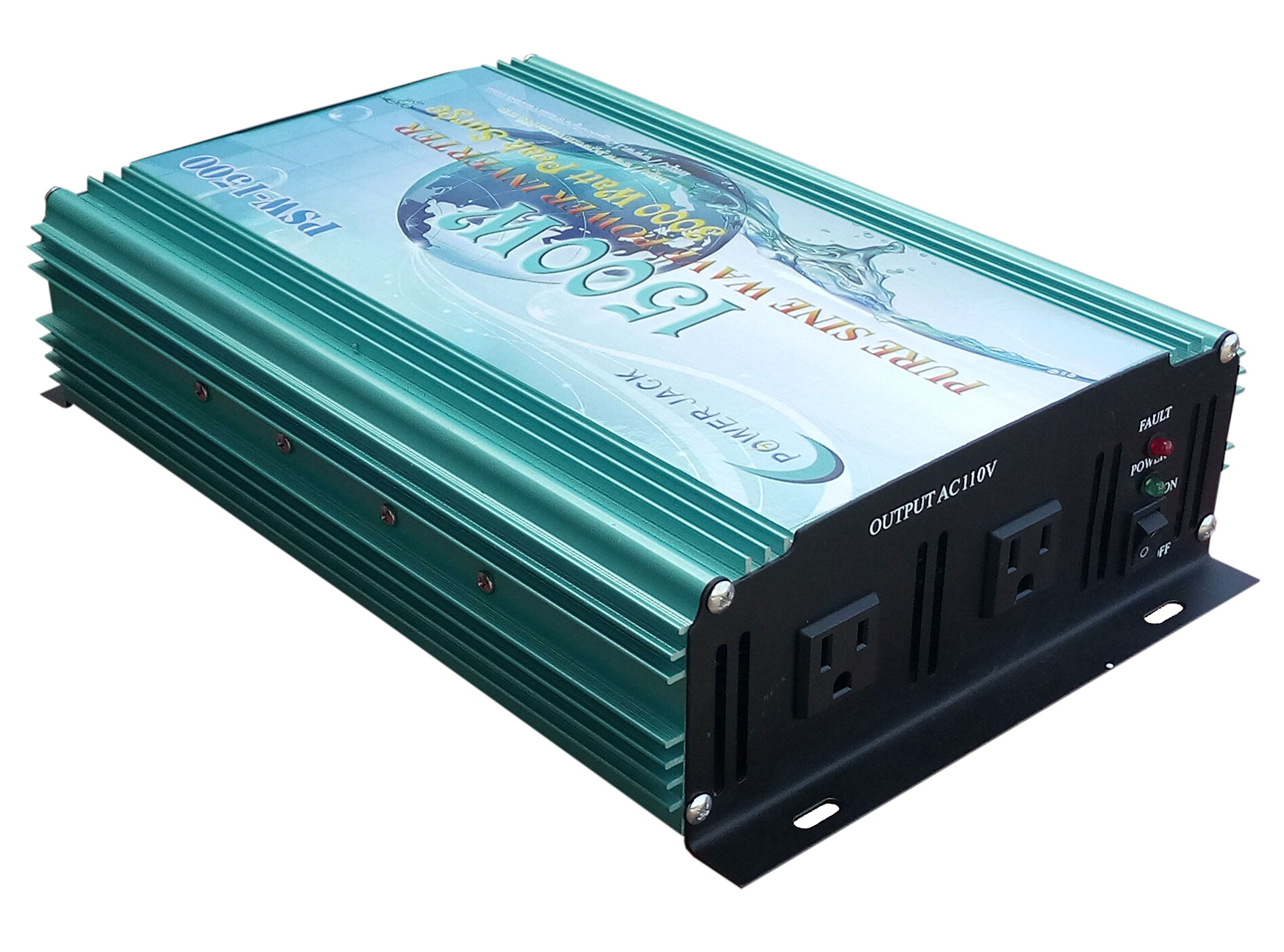 3000W peak 1500W Pure Sine Wave Power Inverter DC 12V to AC 110V 60Hz, Car power tool