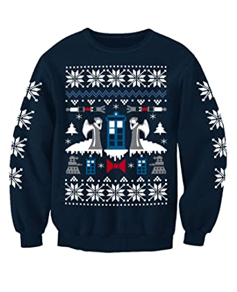 Dr Who Christmas Sweater.Doctor Who Angel Inspired Christmas Sweatshirt Jumper Adults