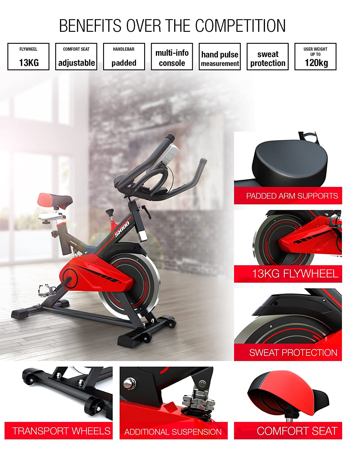 Sportstech SX100 indoor exercise bike