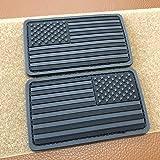 2x3.5 inch 3D PVC Rubber Black Grey US USA American