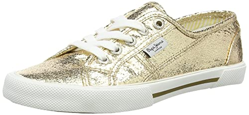 Pepe Jeans London Damen Aberlady Metal Sneakers