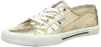 Pepe Jeans London, Sneakers Basses Femme (Gold), 41 (EU)
