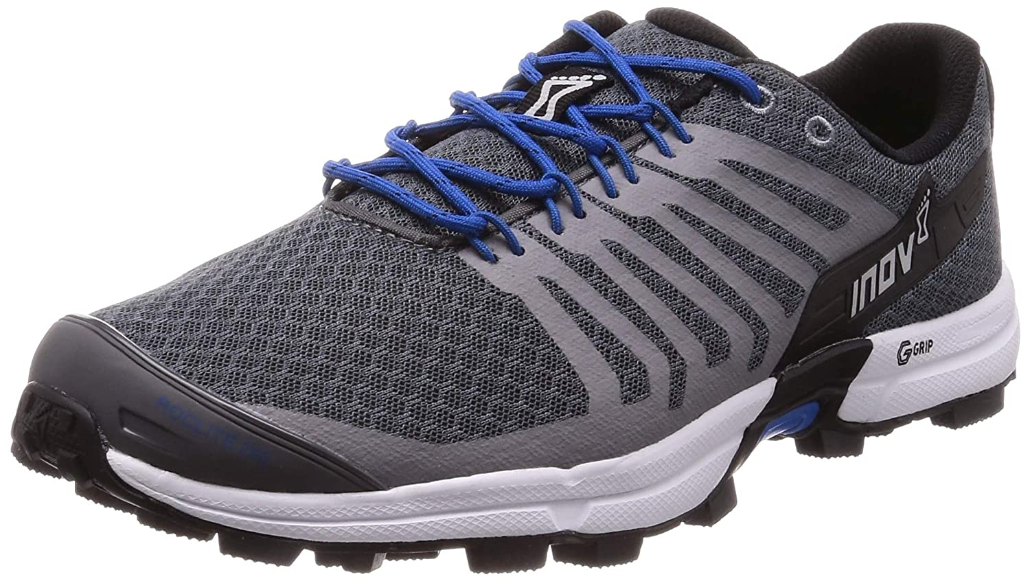 Grey bluee Inov-8 Mens Roclite 290 V2   Trail Running OCR shoes   Lightweight   Superior Durability & Unrivalled Graphene Grip