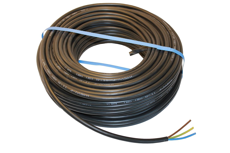 H05VV-F 3x2,5mm² PVC Schlauchleitung schwarz 50 Meter Ring