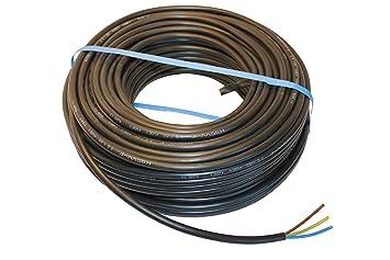 flexibel Stromkabel 3x1,5 50m Ring H05VV-F 3G1,5 PVC Schlauchleitung weiß