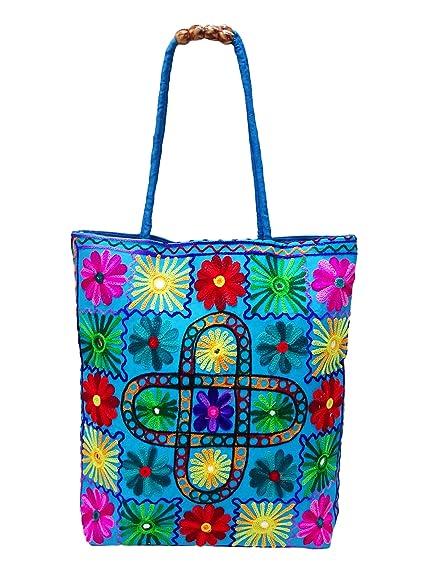 a22763c753 Peegli Suzani Embroidered Cotton Handbag Women Traditional Carrying  Shoulder Bag