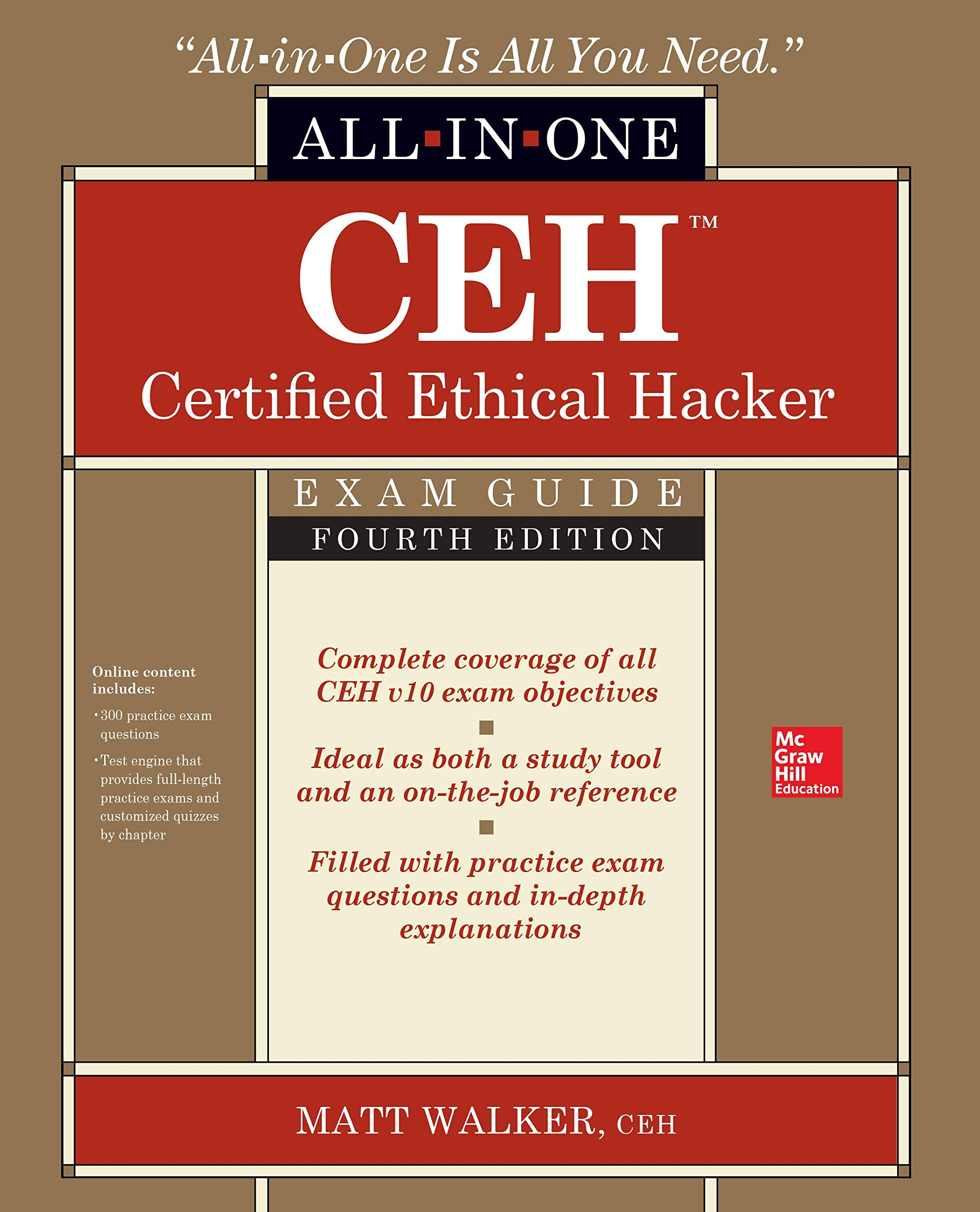 CEH Certified Ethical Hacker All-in-One Exam Guide, Fourth Edition by McGraw-Hill Education