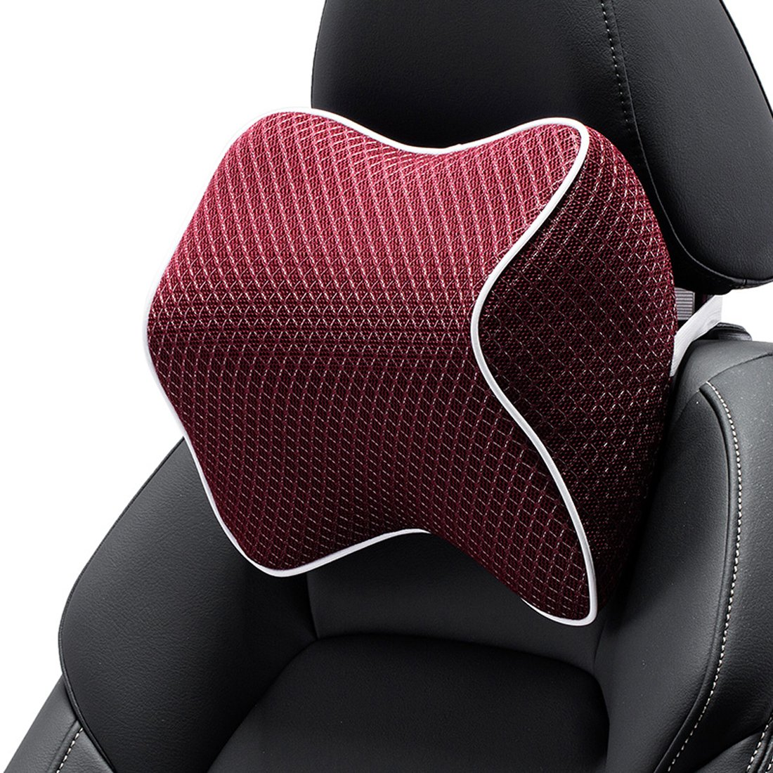 Wishlanlan 1 Pcs Ice Silk Fashion Comfortable Car Neck Pillow Headrest Seat WISCP#003 (Brown)