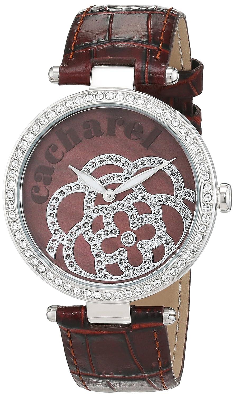 Cacharel Damen-Armbanduhr Analog Quarz Leder CLD 001S-UU