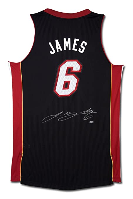 promo code f6cd4 f1707 Lebron James Autographed Jersey - Upper Deck Certified ...