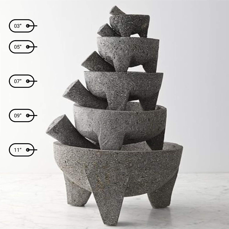 molcajete de piedra 7 pulgadas