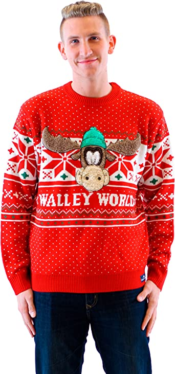 Womens Fashioned Family Christmas Vacation Griswold Ugly Sweater V-neck T-shirt