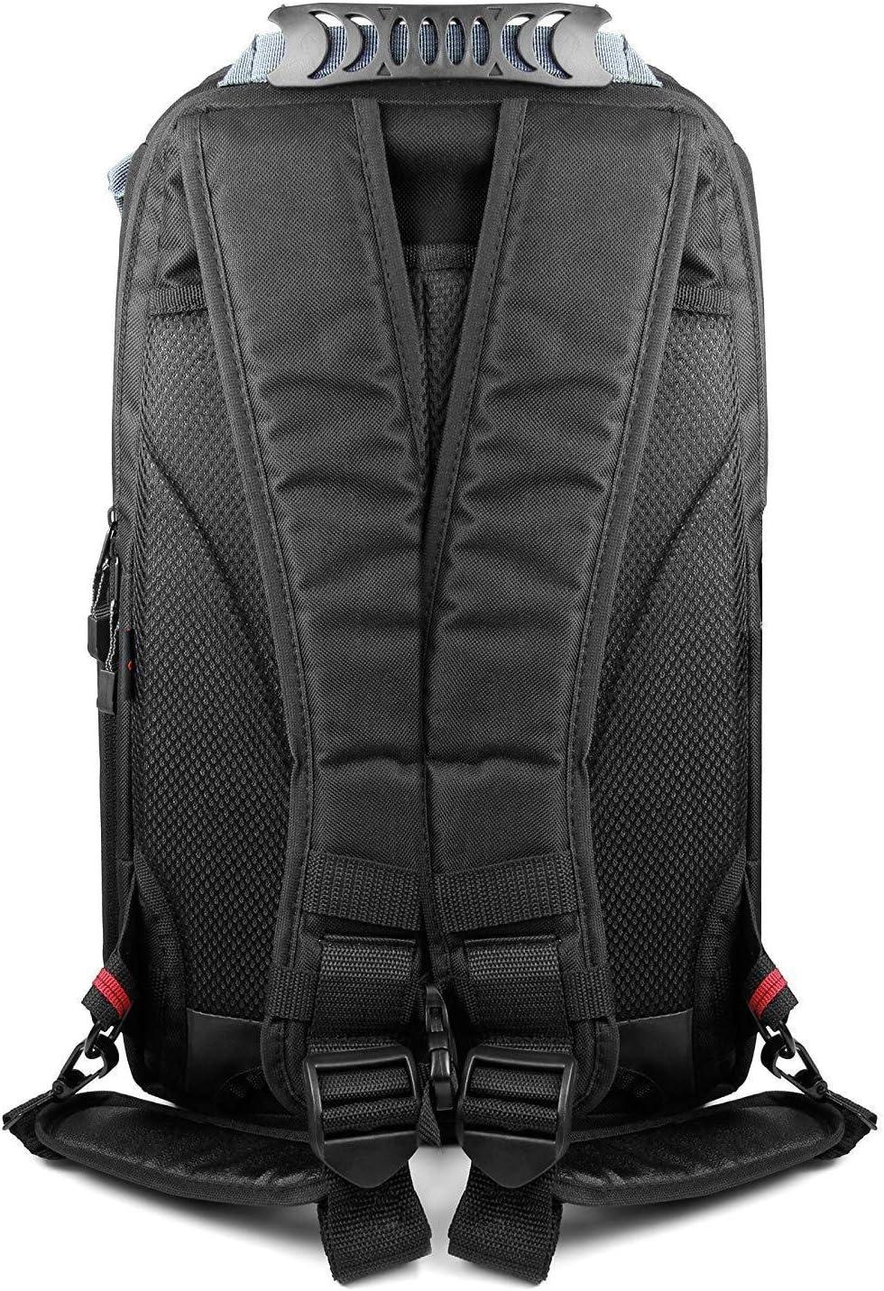 Compatible with Vivitar DVR908MFD Full HD Camcorder DURAGADGET Shock-Absorbing /& Water-Resistant Carry Bag in Black /& Orange