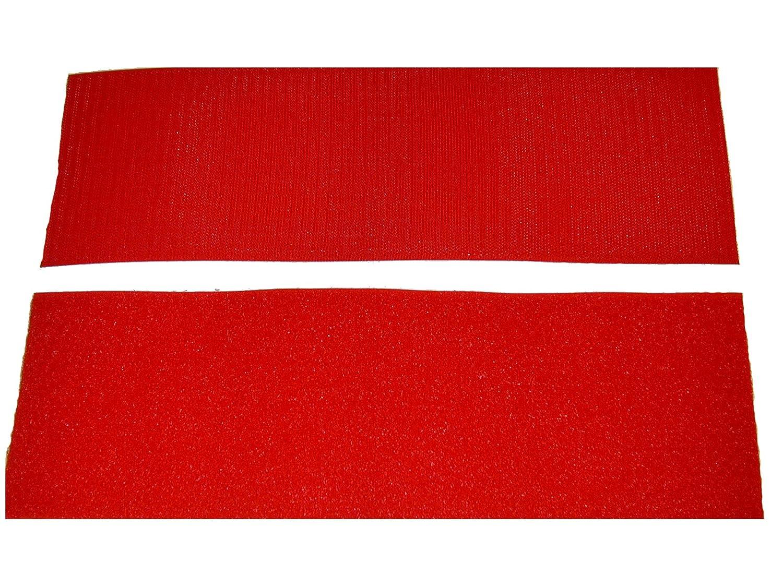 4 Red Sew on Hook and Loop - 12 of Hook 12 of Loop Per Package Generic