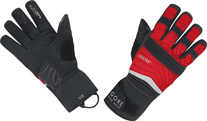 Gore Bike Wear Fusion GTX - Guantes de ciclismo para hombre, tamaño 7, color negro/rojo: Amazon.es: Deportes y aire libre