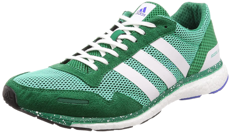 adidas Adizero Adios M, Scarpe Running Uomo, Bianco (Ftwwht/Cybemt/Cblack), 46 EU