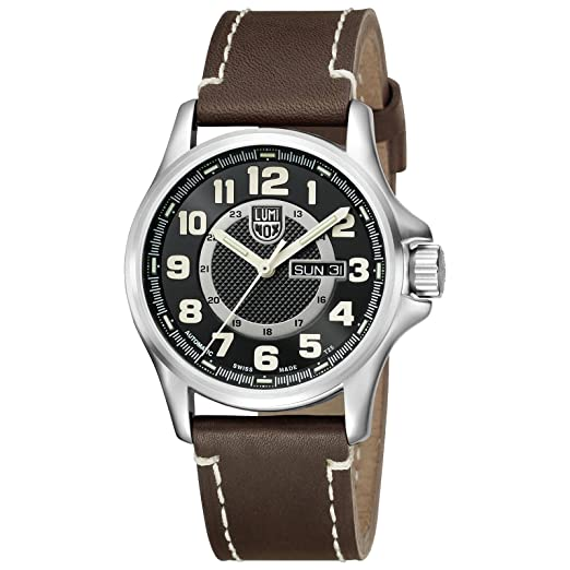 Luminox - reloj de pulsera para hombre - Field Automatic - analógico - automático - marrón/Plateado - 1801: Amazon.es: Relojes