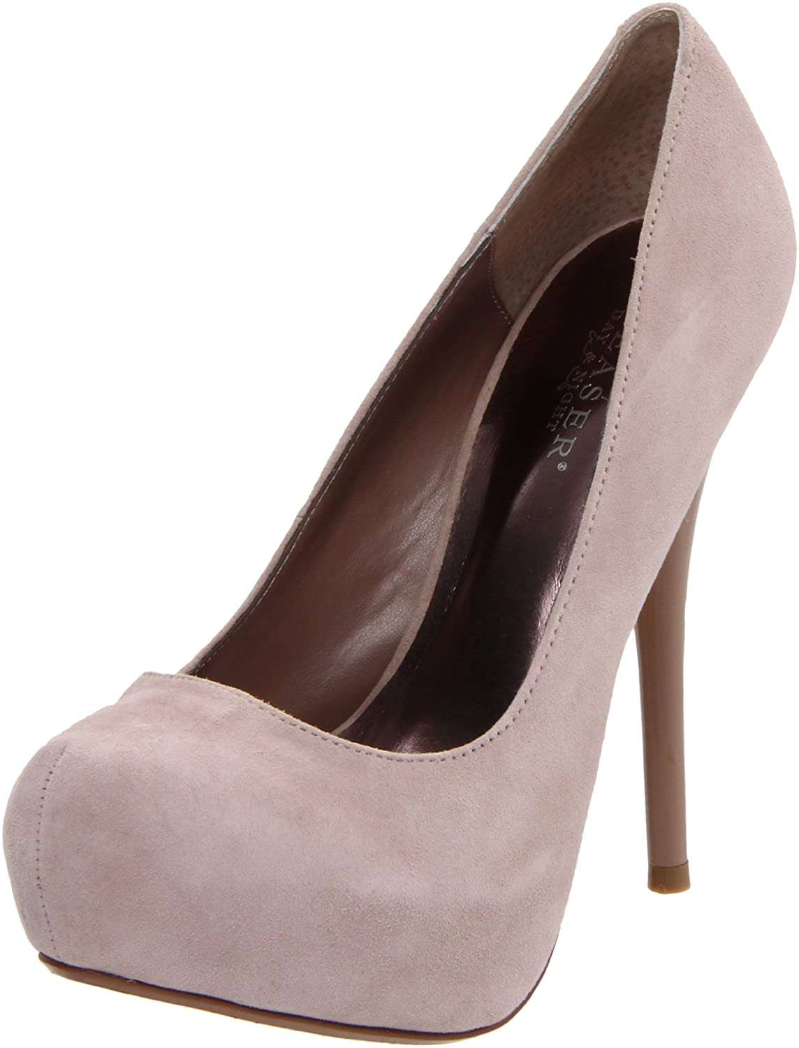 Pleaser Women's Gorgeous-20/BHSUE Platform Pump B0058C0MBC 8 B(M) US|Blush Suede