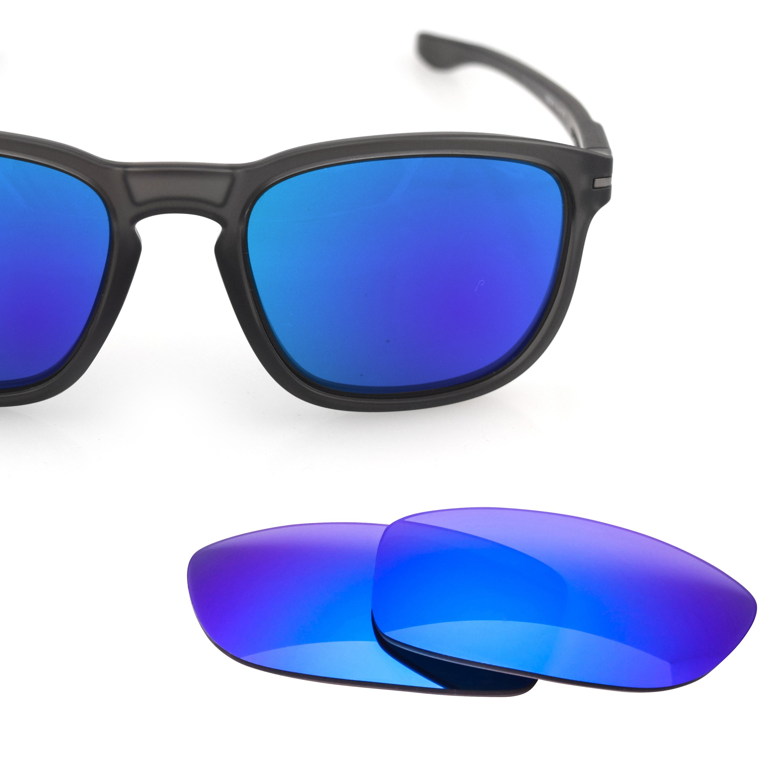 LenzFlip Replacement Lenses for Oakley ENDURO - Gray Polarized with BLUE Mirror Lens