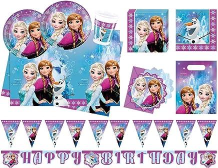 Procos 10110970B Party Set Disney Frozen Northern Lights, XL, 52Pieces