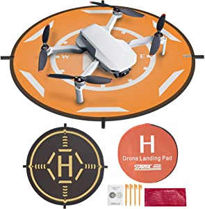 TOMAT Drone Landing Pad,Universal Waterproof Portable Foldable Landing Pads for DJI Mini 2/Mavic Mini/Mavic Air 2/Mavic 2 Pro/Zoom/Mavic Pro (20