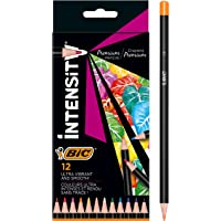 BIC Intensity Premium Colouring Pencil - Pack of 12 Fashion Assorted Wood Colour Pencils
