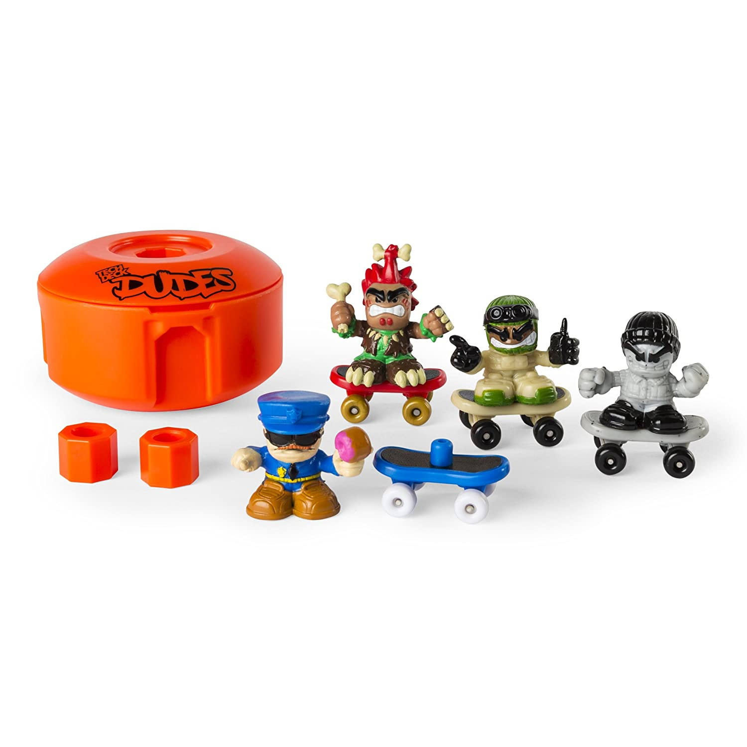 Tech Deck Dudes 4-Pack Collectible Skater Figures with Boards Styles and Colors May Vary