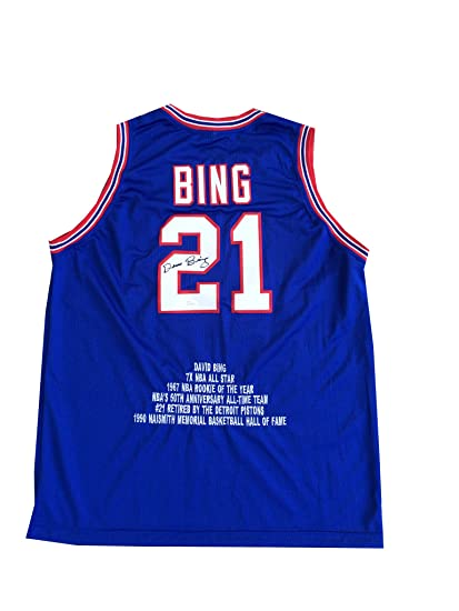 Image Unavailable. Image not available for. Color  Dave Bing Signed Detroit  Pistons Blue Jersey JSA 5bd6b802d