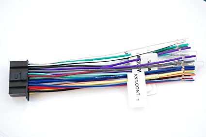 amazon com wire harness for kenwood 22 pinlabeled kw nt800hdt kvt rh amazon com