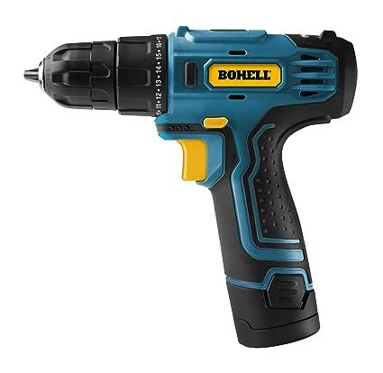 Bohell TALI12 – Taladro atornillador sin cable con batería de litio de 12 V, ligero, velocidad electrónica regulable 0-750 rpm, par máximo 15Nm, ...