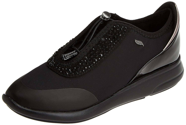 Geox D Ophira E, Zapatillas para Mujer 37 EU|Negro (Black)